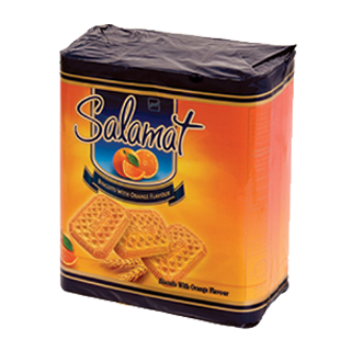 Biscuit With Orang Flavor Decorated With Sugar